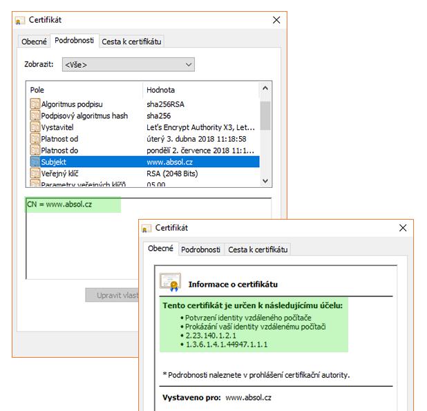 DV SSL certifikat